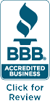 BBB Accredited, Click for Review